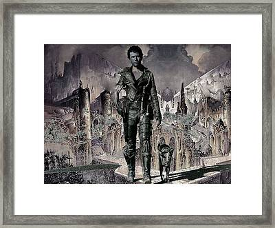 Tribute To Mad Max Framed Print by Francis Erevan