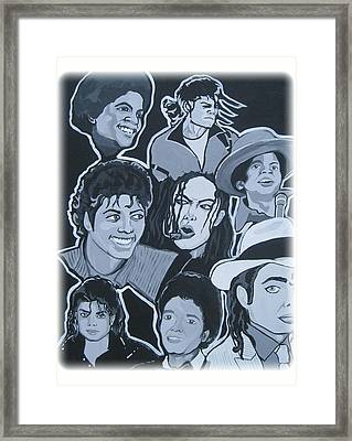 Tribute To Michael Jackson Framed Print by Gary Niles