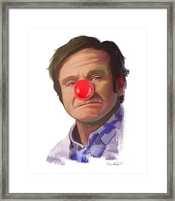 Tribute To Robin Williams Framed Print