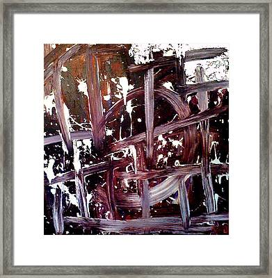 Tribute To Tapies Framed Print by Ernesto Akaba