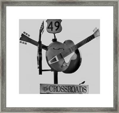 Tribute To The Blues At The Crossroads Framed Print by Dan Sproul