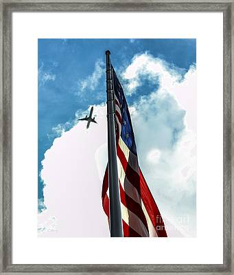Tribute To The Day America Stood Still Framed Print