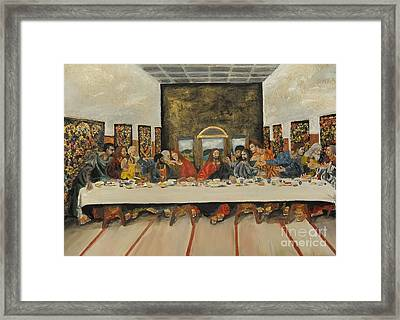 Tribute To The Last Supper Framed Print by Visual  Renegade Art