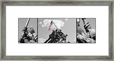 Tribute To The Marines Framed Print