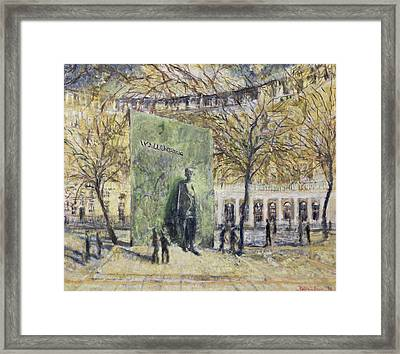 Tribute To Wallenberg, 1998 Oil On Canvas Framed Print