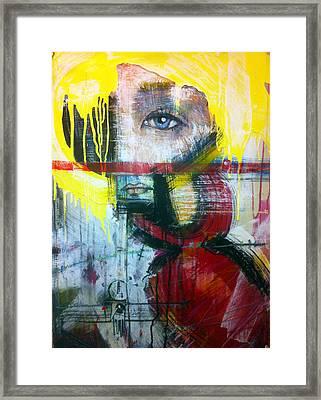 Tricia Helfer As Caprica Six Framed Print by Mark M  Mellon