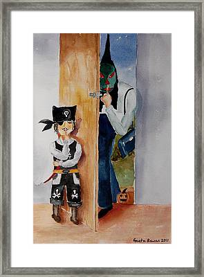 Trick-or-treat Framed Print