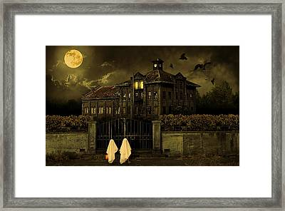 Trick Or Treat Halloween House Framed Print by Movie Poster Prints