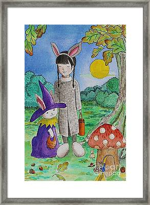 Trick Or Treat Framed Print by Qian Chen