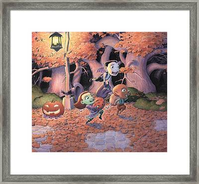 Trick Or Treat Framed Print by Richard Moore