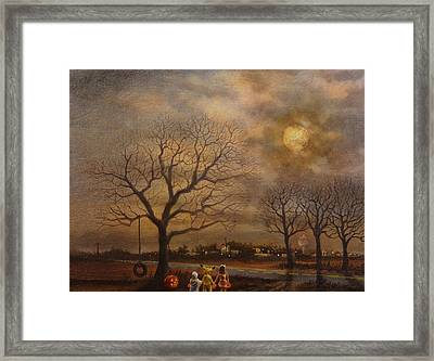 Trick-or-treat Framed Print by Tom Shropshire