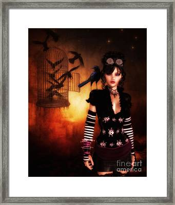 Trickster And Her Minions Framed Print by Putterhug  Studio