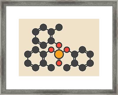 Tricresyl Phosphate Molecule Framed Print by Molekuul
