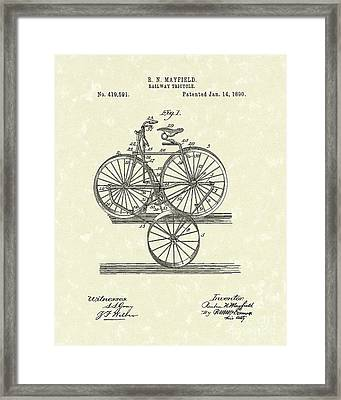 Tricycle 1890 Patent Art Framed Print
