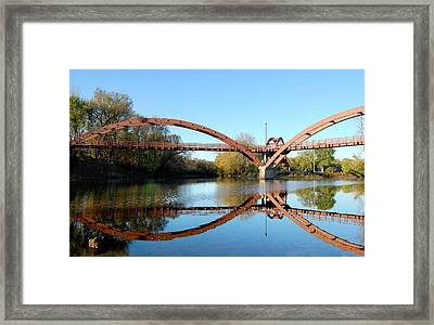 Framed Print featuring the photograph Tridge by Michael Donahue