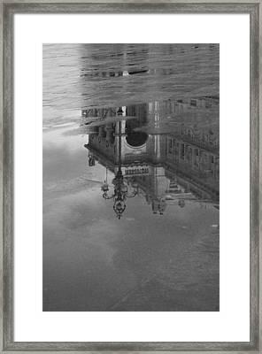 Trieste Reflection In Mono Framed Print by Graham Hawcroft pixsellpix
