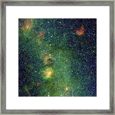 Trifid Nebula Framed Print by Nasa/jpl-caltech/ucla