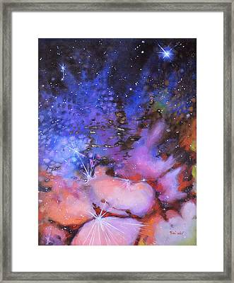 Trifid Nebula Framed Print by Toni Wolf