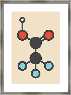 Trifluoroacetic Acid Molecule Framed Print
