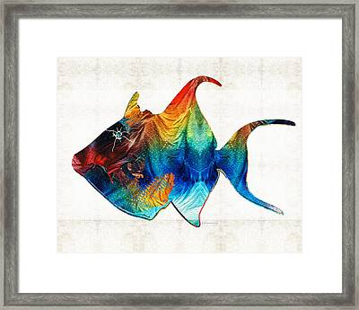 Trigger Happy Fish Art By Sharon Cummings Framed Print