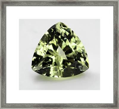 Trillion Cut Tourmaline Gemstone Framed Print