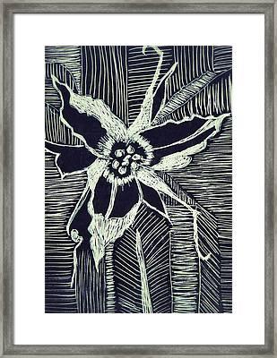 Trillium In Black And White Framed Print
