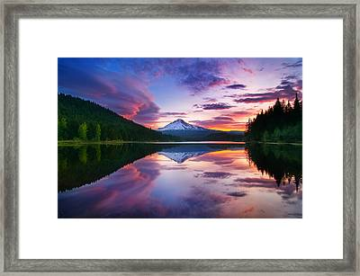 Trillium Lake Sunrise Framed Print
