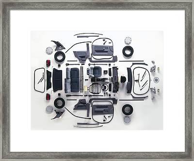 Trim Of A Small Modern Car Framed Print by Dorling Kindersley/uig