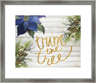 Trim The Tree Framed Print by Lanie Loreth