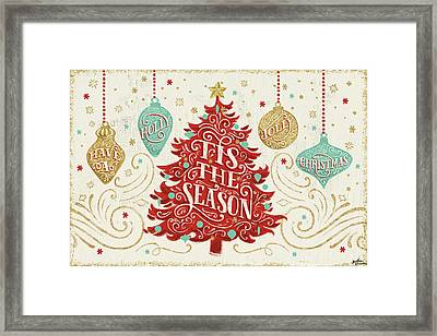 Trimming The Tree II Framed Print by Janelle Penner