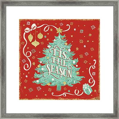 Trimming The Tree Iv Framed Print by Janelle Penner