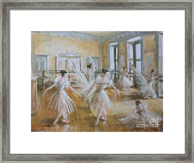 Tring Park The Ballet Room Framed Print by Yvonne Ayoub