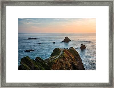 Trinidad Ocean Viewpoint Framed Print by Leland D Howard