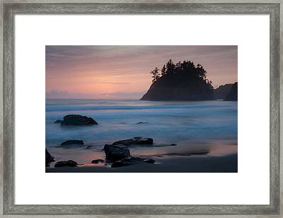 Trinidad Sunset - Another View Framed Print by Mark Alder