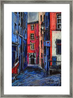 Trinite Square Lyon Framed Print by Mona Edulesco