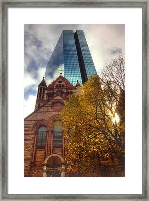 Trinity And The Hancock Framed Print by Joann Vitali