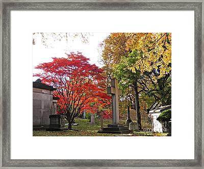 Trinity Cemetery Framed Print by Sarah Loft