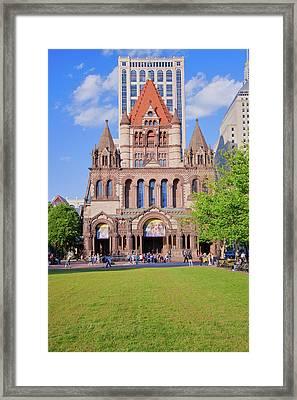 Trinity Church In Copley Square Framed Print