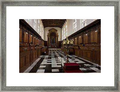 Trinity College Chapel In Cambridge Framed Print by Kiril Stanchev