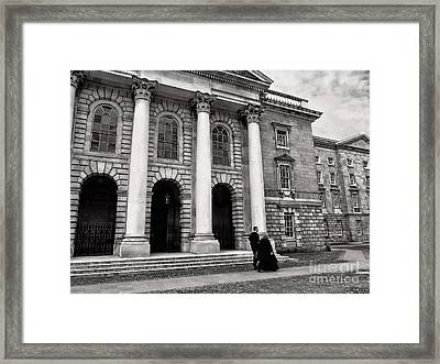 Framed Print featuring the photograph Trinity College Examination Hall by Menega Sabidussi