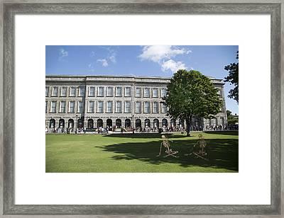 Trinity College Shadows Framed Print by Betsy Knapp