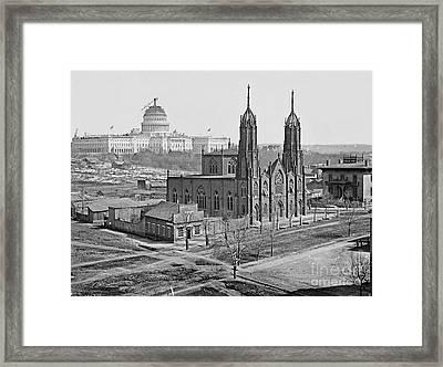 Trinity Episcopal Church 1862 Framed Print by Padre Art
