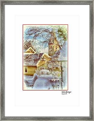 Trinity Episcopal Church In The Snow - Shepherdstown  Framed Print