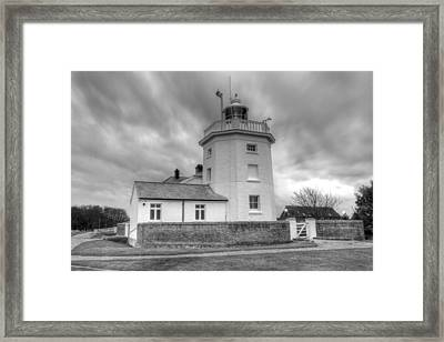 Trinity House Lighthouse Bw Framed Print by David French