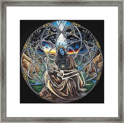 Trinity Framed Print by Morgan  Mandala Manley