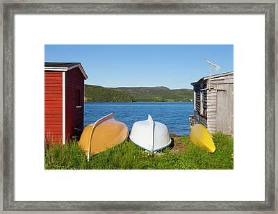 Trinity, Newfoundland, Canada Framed Print