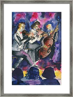 Trio, 1998 Wc On Paper Framed Print