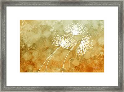Trio Abstract Flower Art  Framed Print by Ann Powell