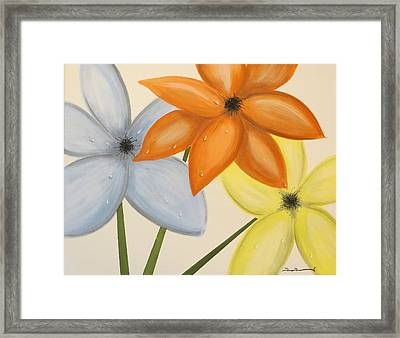 Trio Of Flowers Framed Print by Tim Townsend