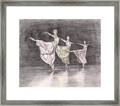 Trio Of Grace Framed Print by Beverly Marshall